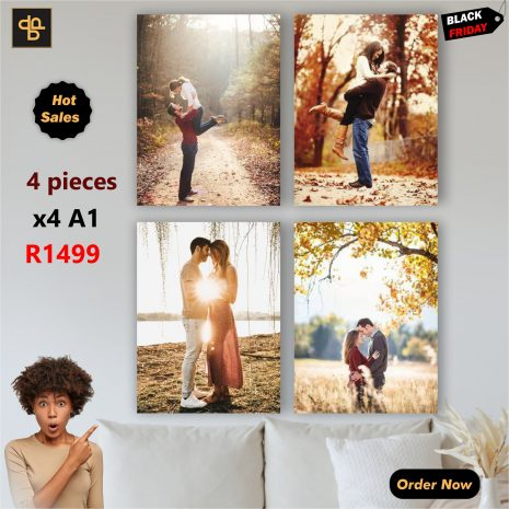 four Piece-Canvas Prints